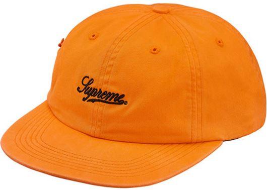 Picture of Supreme Side Pocket Script Logo 6-Panel Orange
