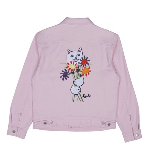 Picture of Nermcasso Flower Denim Jacket Pink