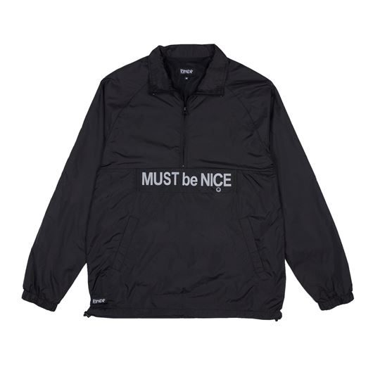 Picture of Must Be Nice Half Zip Anorak Jacket Black 3M