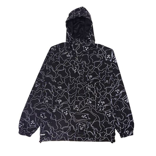 Picture of Nermal 3M Line Camo Anorak Jacket Black 3M