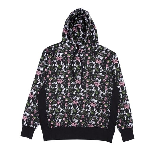Picture of Nerm Flower Pattern Pullover Sweater Black
